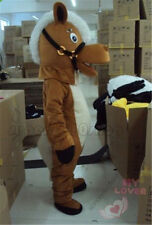 Hallooween Lovely Brown Horse adult  Mascot Costume fancy dress Xmas Festival