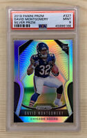2019 Panini Prizm David Montgomery #327 Silver Refractor RC Rookie PSA 9 Mint