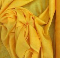 Cotton Muslin Dress Fabric Yellow 100% Cotton 115cm  Wide £12 For 5 Metre