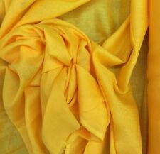 Cotton Muslin Dress Fabric Yellow 100% Cotton 115cm  Wide £14 For 5 Metre
