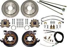 "CURRIE DISC BRAKE KIT,LINES & CABLE,REAR PARKING,BIG FORD NEW,11"" ROTORS,6x5.5"""