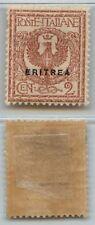 ERITREA - 1924 - 2 cent tipo Italia soprastampati (78) - MH - Molto bello