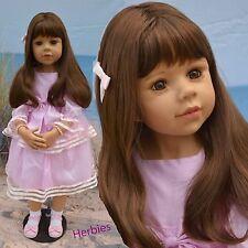 "Masterpiece Dolls Amber, Brunette by Monika Levenig 39"" Full Vinyl Doll"