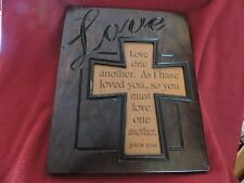 "Hand Made Amish ""Love One Another"" Plaque"