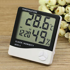 LCD Temperature Humidity Meter Clock Indoor Hygrometer Thermometer Intriguing