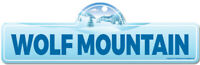 Wolf Mountain Street Sign | Snowboarder, Décor for Ski Lodge, Cabin, House