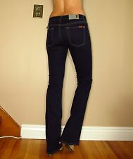 Seven 7 For All Mankind $169 Skinny Slim Bootcut Gummy Jeans Dark Rinse 28