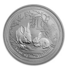 2011 Australia 1 Kg Kilo Lunar.999 Silver Year of the Rabbit BU Original Capsule