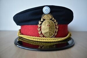 Argentina Fire Fighter Officer Police Policia Federal 1970 - 80s Visor Cap