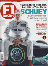 F1 Racing magazine April 2012 - Schumacher interview