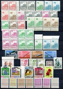 VA1165 ROC CHINA TAIWAN Lot of 56 stamps, MNH, good catalogue value, fine condit
