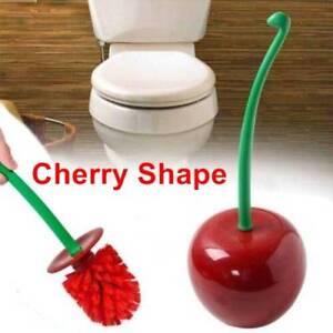 Creative Lovely Shape Lavatory Brush Toilet Brush & Holder Set Red