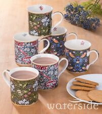 Geschirr Kaffeebecher Set William Morris Design 6tlg Waterside England Porzellan
