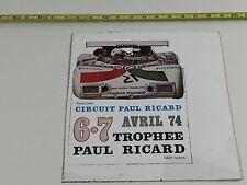 AUTOCOLLANT VINTAGE CAR CIRCUIT PAUL RICARD 1974 BMW