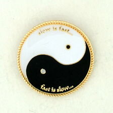 TAI CHI Slow is Fast Fast is Slow YIN YANG, Male & Female, Day & Night PIN