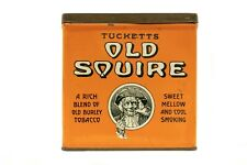 "Rare1910s Canandian ""Old Squire"" hinged litho tobacco tin in very good condition"