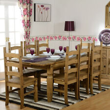 Wooden Fixed Dining Tables Sets 7 Pieces