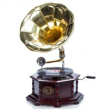 Grammophon Gramophone Trichter Grammofon für Schellack Platten im antik Stil