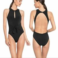 Robin Piccone black Ava high neck one piece 4 NWT $168