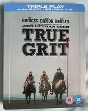 TRUE GRIT - UK BLU RAY STEELBOOK -  BLU RAY/DVD SET - SEE DESCRIPTION
