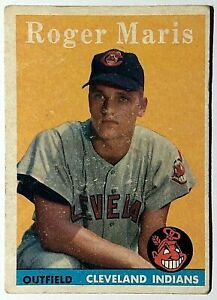 1958 Topps ROGER MARIS RC #47 Cleveland Indians Rookie Yankees