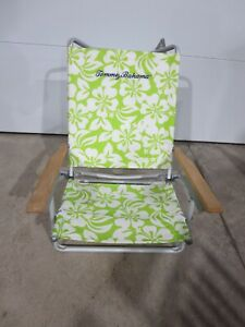 Tommy Bahama Beach Chair Green White Hibiscus Adjustable Shoulder Strap