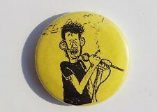 POGUES Shane MacGowan  BADGE Yellow Cartoon Caricature 1990's Original