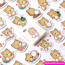 Cute Baby Fox Adventures Stickers ~ Kawaii Sticker Set, Fox Stickers, Cute Decal