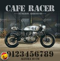Numero adhesivo pegatinas vintage Cafe Racer stickers moto autocollants