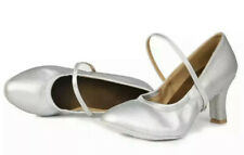 Roymall- Women's Silver 8.5US Latin Dance Ballroom Performance Shoes