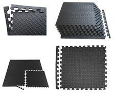 Interlocking Eva Soft Foam Exercise Floor Mats Gym Garage House Office Black Mat