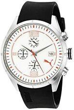 PUMA Men's PU102621002 Driver Chrono Analog Display Quartz Black Watch - NEW!