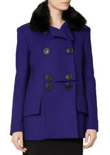 VIVIENNE WESTWOOD 'MARSHALL' BLUE FAUX FUR COLLAR COAT *IT 40/UK 8-10* BNWT £565