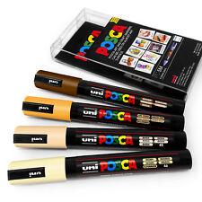 Uni Posca PC-5M Art Marker Paint Pens - Skin Tones - Set of 4 in Plastic Wallet