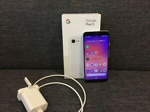 Google Pixel 3 - 64GB - Clearly White (Unlocked) - with box. Good condition