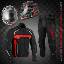 Motorbike Full Face Helmet Motorcycle Textile Suit Waterproof Jackets Trousers