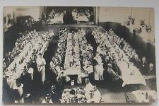 ROYAL NAVY DINNER ASSEMBLY CIRCA WW1 PHOTO POSTCARD AUSTRALIA              m21