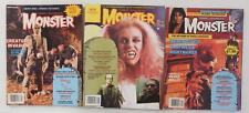 3x MONSTERLAND 1980s Magazine # 4 6 9 ~ Caroline Munro GODZILLA Famous Monsters