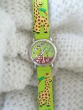 D&S Imports Analog Giraffe Watch for Kids with Buckle Band WORKING!