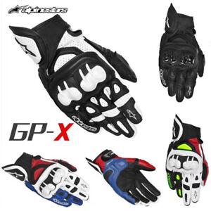 Alpinestars Gloves GPX Men Leather Motor Street Road Racing Full Finger Sport