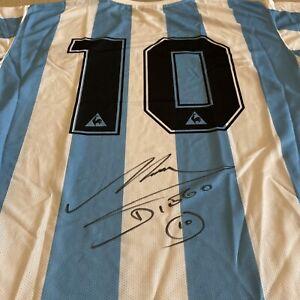 Diego Maradona Signed Argentina Shirt / Jersey - COA
