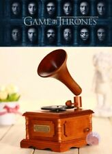 Wooden Phonograph Music Box : Game Of Thrones - Winter Is Coming
