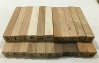 """Variety Lot of 22 Pen Blanks, ¾""""x¾"""" x5"""", Craft turning, carving wood hobby"""
