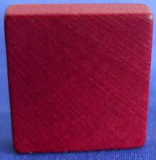 Single Maroon Scrabble Wood Blank Tile One Only Replacement Game Parts Pieces