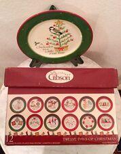 Twelve Days Of Christmas Salad Plates (12) Designed By Julie Ingleman For Gibson