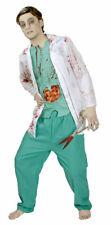 Dottore Uomo Costume Horror con sangue zombie medico CON COLTELLO di Halloween Costume KK