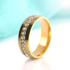 Ring 9ct Gold size Q Diamond Wedding Holiday Eternity Gift Seasonal
