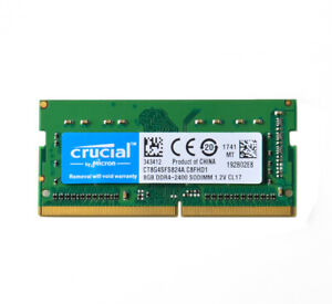 Crucial 8GB 2Rx8 DDR4 2400T 2400MHZ PC4-19200 SODIMM RAM Laptop Memory Notebook