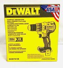 DEWALT DCD791B 20V MAX XR Li-Ion 1/2 in. 2-Speed Drill Driver (Bare-Tool) New