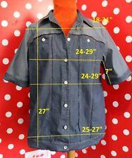 MARINA RINALDI plus sz 25 eu 54 us 16 1X shirt-jacket jean stretch cotton blouse